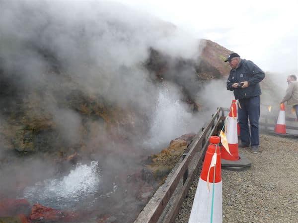 Boiling hot spring