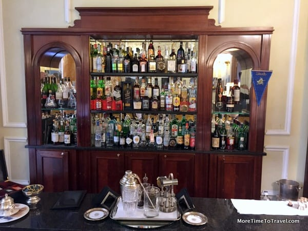 The classical hotel bar