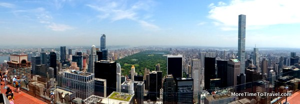 Manhattan looking north from Top of the Rock