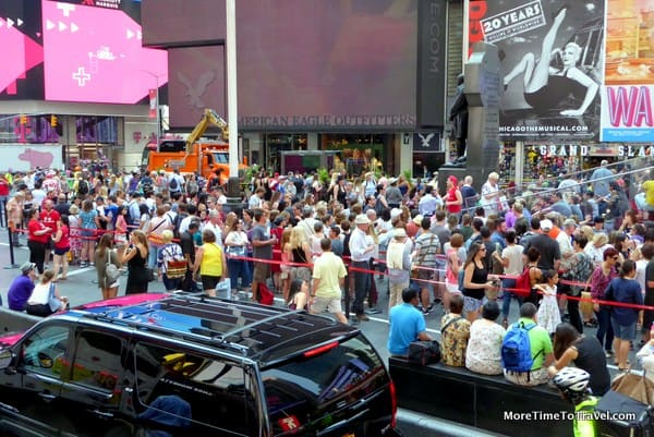 The lines at TKTS, Duffy Square