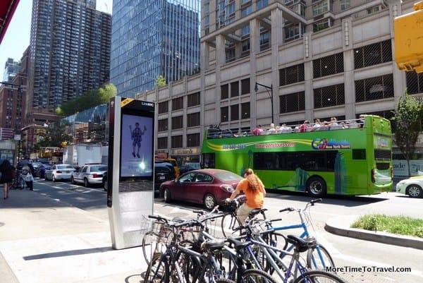 A LinkNYC on Eighth Avenue