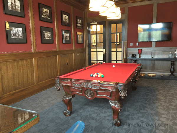 Loved the vintage regional photographs lining the wall in the billiards room.