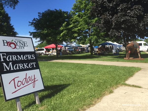 Boyne City's Wednesday farmer's market on Lake Charlevoix