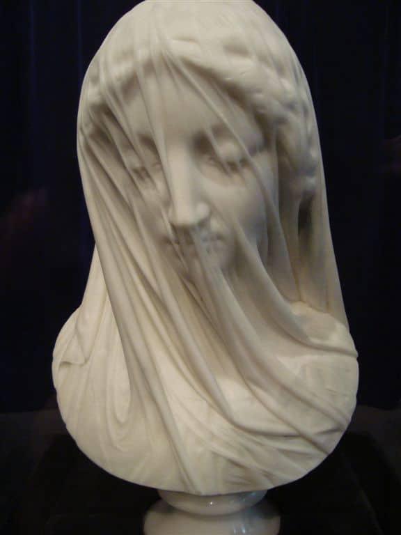 The Veiled Virgin, a marble masterpiece