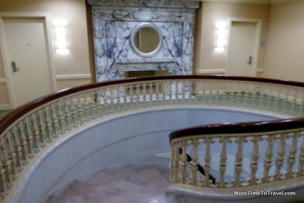Elegant spiral staircase at the Southbridge Hotel and Conference Center