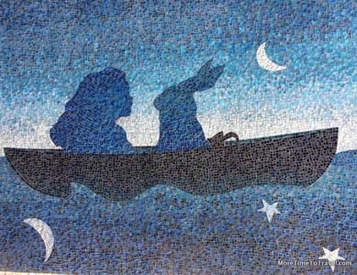 Mermaid mosaic on Miami River Walk