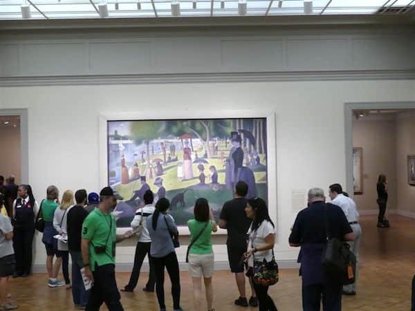 Admiring Seurat's mastpiece