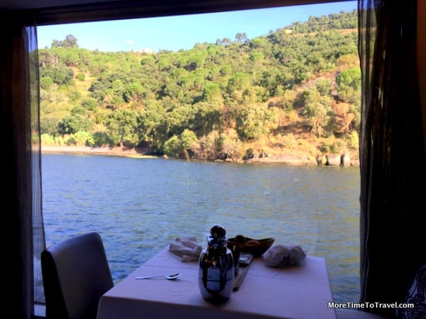 View from our dinner table for two at the Alfresco room