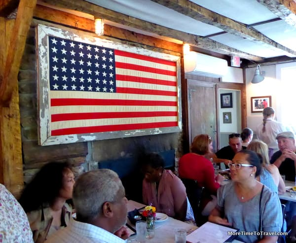Another view of the dining room at Farmer & the Fish