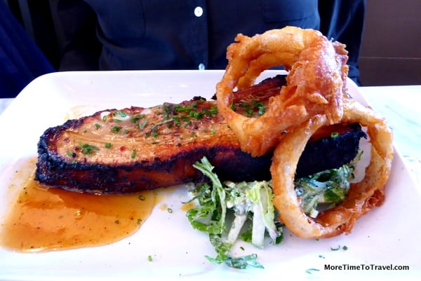 "A culinary first for me: ""Bacon rib"" at Farmer & the Fish"