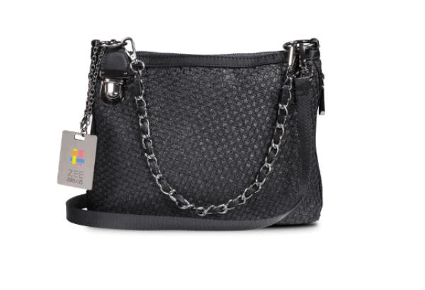 Zee Alexis Beacon Shoulder Bag in Black Metallic