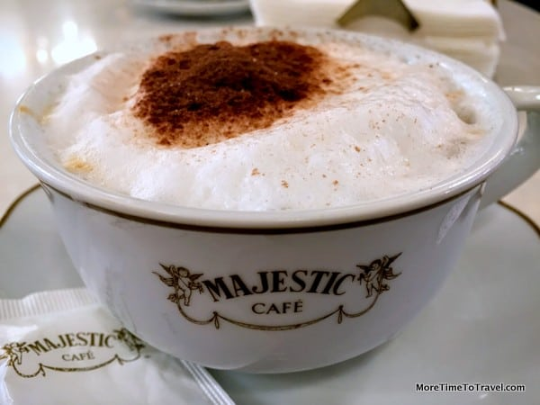 Cappuccino at Majestic Cafe