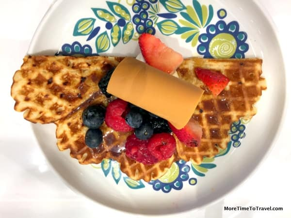 Norwegian waffles on the Viking Star