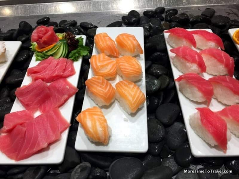 The over-50 traveler will appreciate the very fresh sushi and sashimi at the World Cafe on the Viking Star