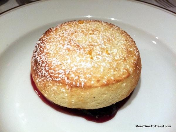 The dessert standout: Chiboust aux figues port wine, cinnamon