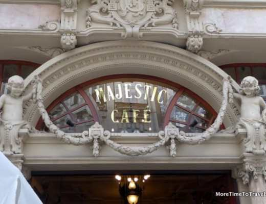 Entrance to the Majestic Cafe