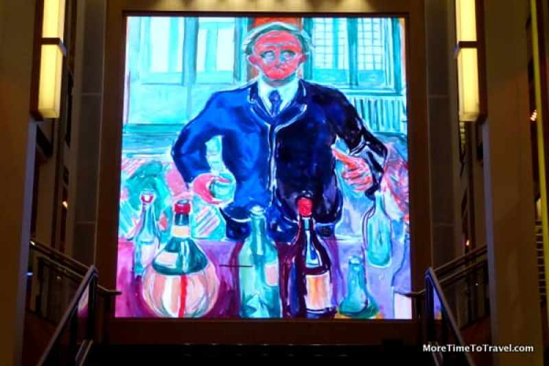 One of the Munch paintings in the Atrium on the Viking Star