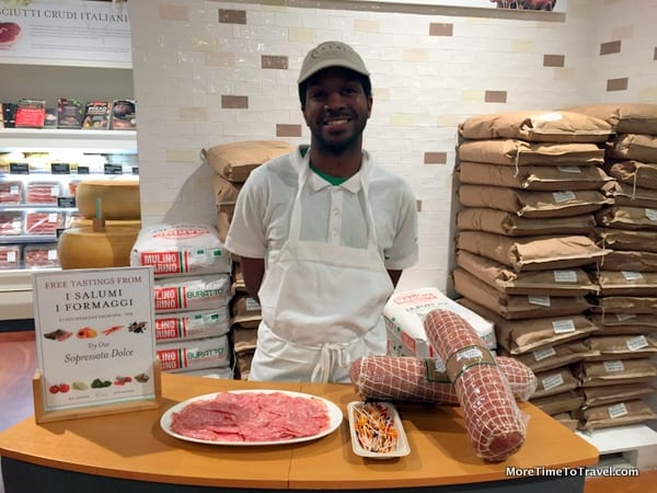Salumi tasting at Eataly NYC Downtown