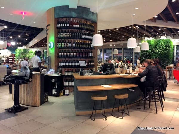 One of the five restaurants at Eataly NYC Downtown