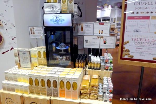 An Urbani truffle display
