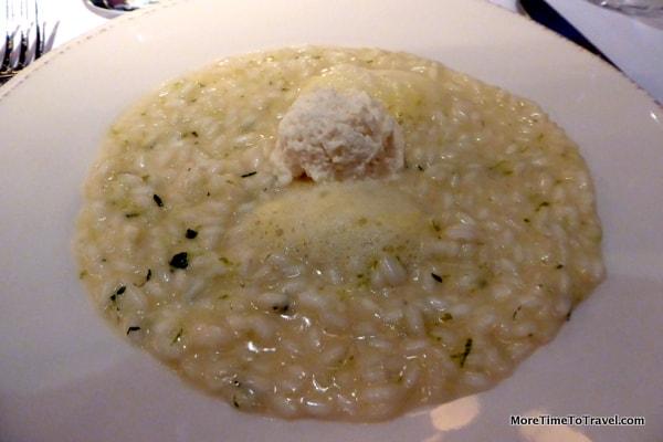 Chef Corelli's Mojito di Parma (Risotto with lime foam)