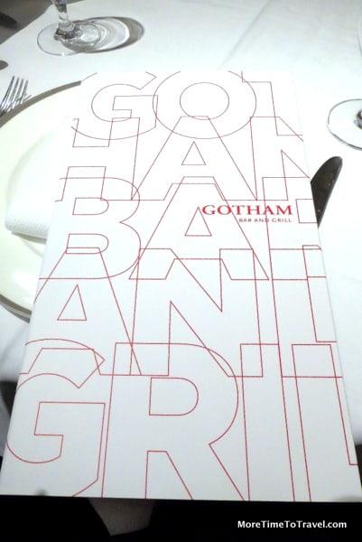 Menu at Gotham Bar and Grill