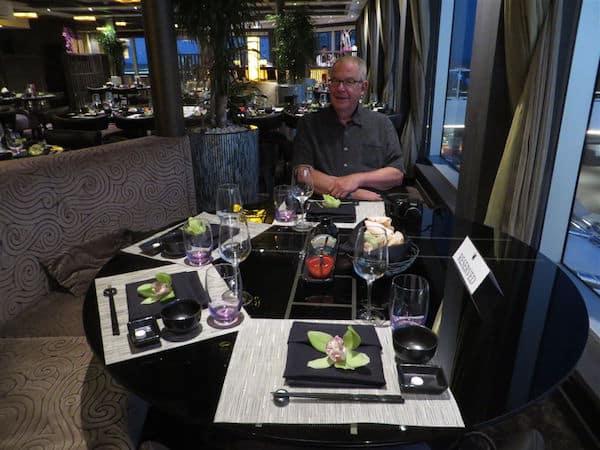 John at a table at Tamarind