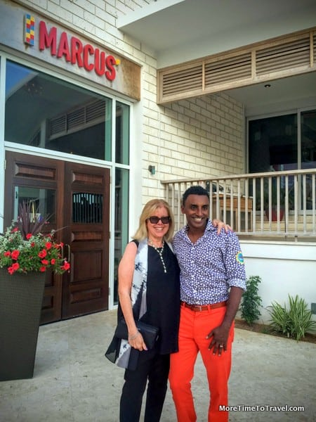 Meeting Marcus Samuelsson at the Hamilton Princess in Bermuda