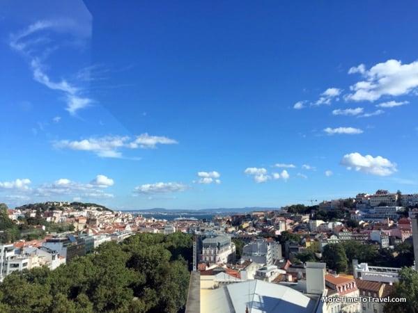 Lisbon from the rooftop of the Tivoli Lisboa Hotel