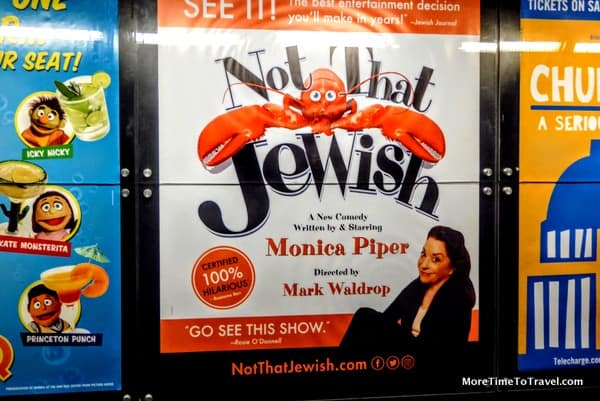 """Outside the theater at """"Not That Jewish"""""""