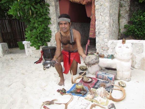 Mayan healing ceremony at Zoetry al Paraiso
