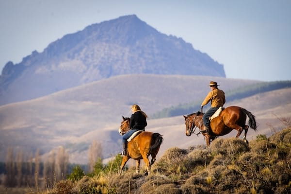 Horseback riding at Argentine Estancia