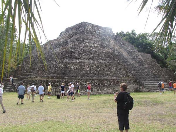 Mayan ruins at Chacchoben