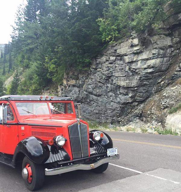 Red Bus at Glacier