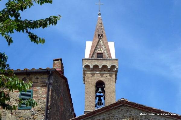 Church tower in San Gusme