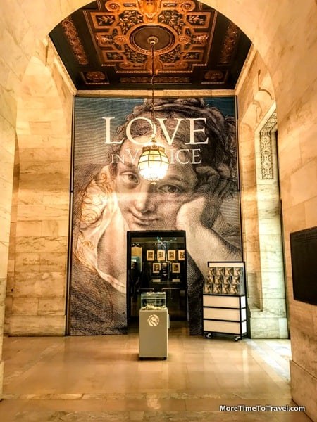 Entrance to the Love in Venice exhibit at the New York Public Library