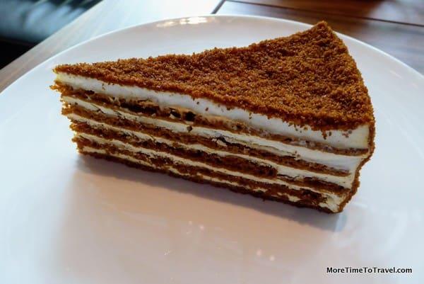 Smetannyk Cake at Coffeemania