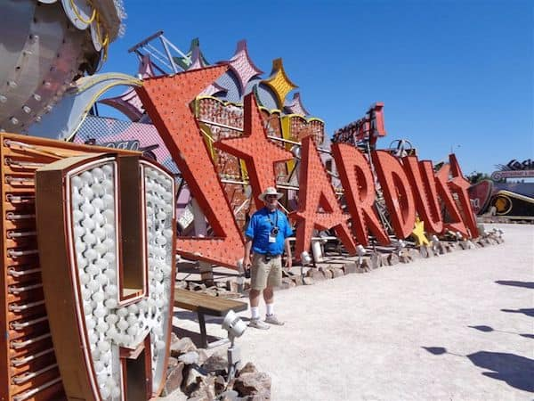 Guide at the Neon Museum in Las Vegas