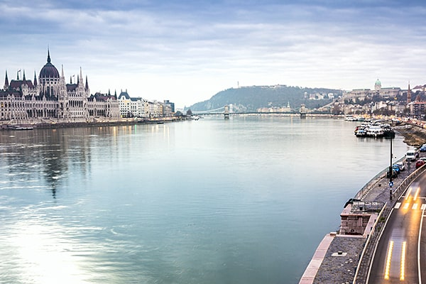 Budapest panorama with Hungarian Parliament Building