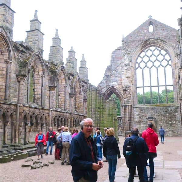 Holyrood Abbey dates back to 1128