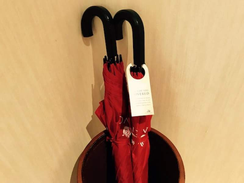 Packing for a Viking Ocean Cruise: Umbrellas on the Viking Star (Photo credit: Jerome Levine)