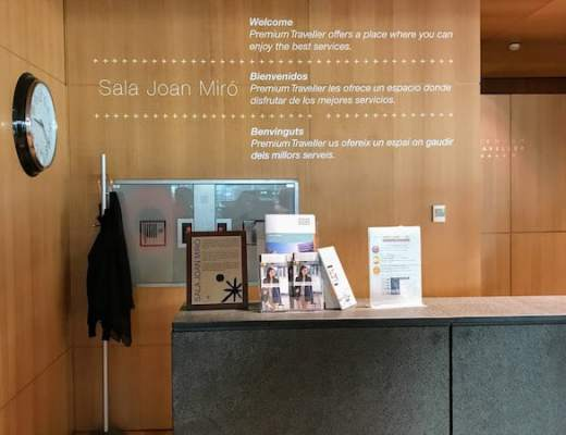Reception Desk at the Joan Miro Lounge at BCN (Credit: Jerome Levine)