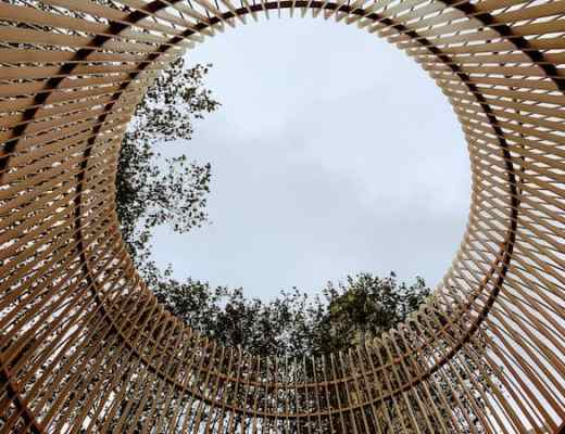 View of the sky through the Gilded Cage (Credit: Jerome Levine)