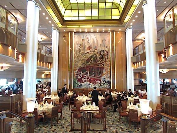 Elegant Britannia Dining Room on Queen Elizabeth
