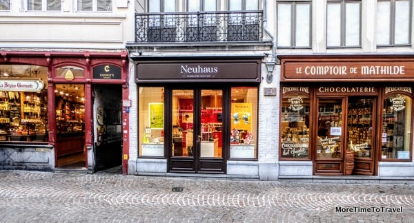 In Bruges, it's not unusual to see three chocolate shops in a row
