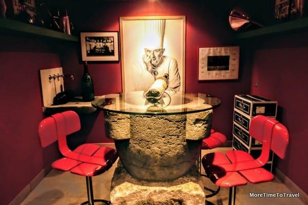 Wine room in the basement of Paul Bocuse Restaurant