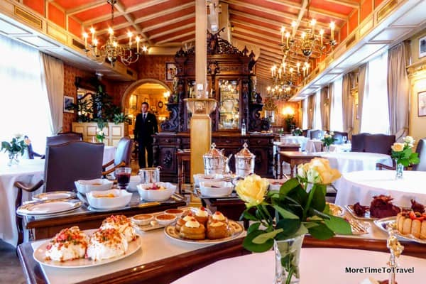 The elegant dining room at Paul Bocuse Restaurant