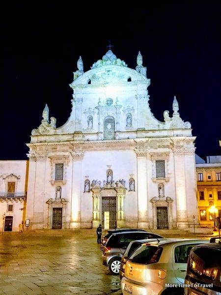 Chiesa Madre dei Santi Pietro e Paolo in Galatina, at night