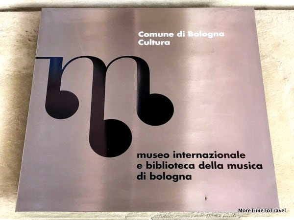 Plaque outside the Music Museum