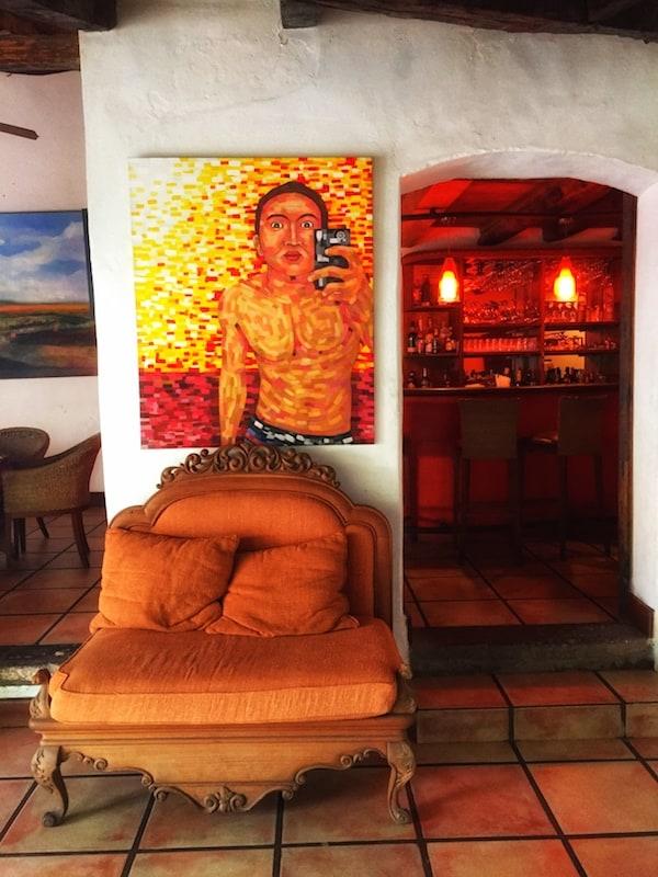 The art of the selfie at Los Almendros de San Lorenzo in Suchitoto